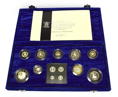 Lot 4066 - The United Kingdom Millennium Silver Collection. A set of 13 year 2000 silver proof coins comprised
