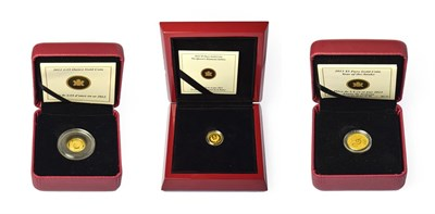 Lot 4067 - Canada, 3 x Gold Proof Coins consisting of: 2012 ''diamond jubilee'' five dollars. 3.13g of...