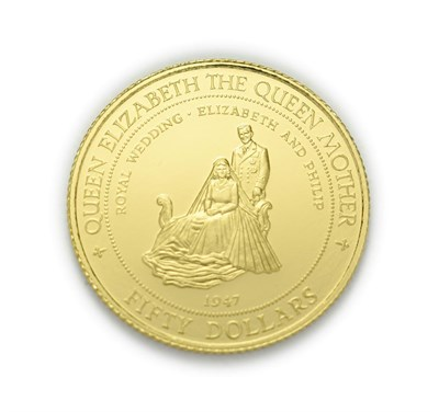 Lot 4074 - Jamaica, 1995 Gold Proof 50 Dollars. 7.78 g 14ct (.583) gold. Obv: Coat of arms of Jamica. Rev:...
