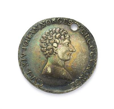 Lot 4075 - Norway, Carl XIV Johann, 1821 Silver Half Speciedaler. Obv: Bare head facing right. Rev:...