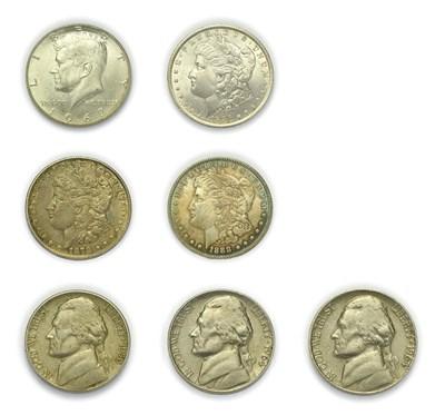 Lot 4091 - USA, 3 x ''Morgan Dollars''. named after engraver George T. Morgan consisting of: USA, 1878 San...