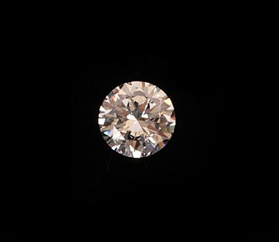 Lot 2087 - A Loose Round Brilliant Cut Diamond, weighing 1.03 carat approximately  Accompanied by an...