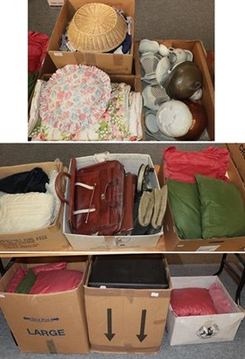 Lot 1004 - Quantity of assorted items including textiles, bedding, costume, children's costume including...