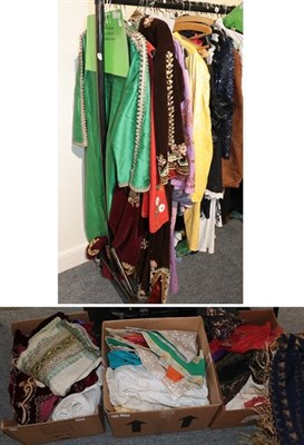 Lot 1011 - Assorted Eastern robes, Indian saris, robes and obi's (some original and others dress maker...