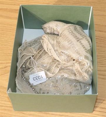 Lot 1033 - Assuit shawl in a geometric design, 70cm by 240cm