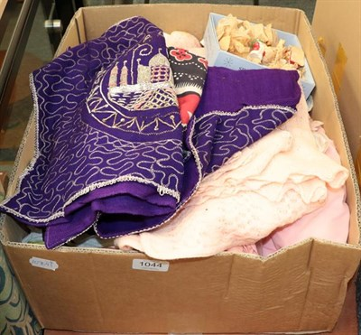 Lot 1044 - Circa 1930s and later ladies lingerie, camisole tops, night dress, wool bed jackets, two...