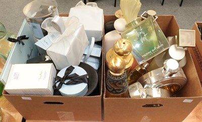 Lot 1054 - Quantity of factice scent bottles including Miss Dior, plastic factices etc, Thierry Mugler...