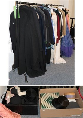 Lot 1056 - Assorted gents theatrical jackets, coats and dressing robes, including a policeman's jacket,...