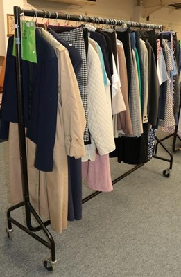Lot 1066 - Large quantity of mainly Jaeger assorted ladies costume including wool coats, trench coat, jackets