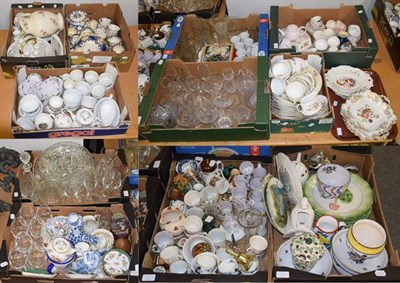 Lot 1084 - Decorative household ceramics and glass including decanters, wines, Emma Bridgewater jug,...