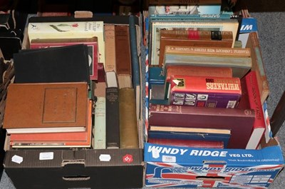 Lot 1091 - Two boxes of reference works including: historical, geographical and others etc