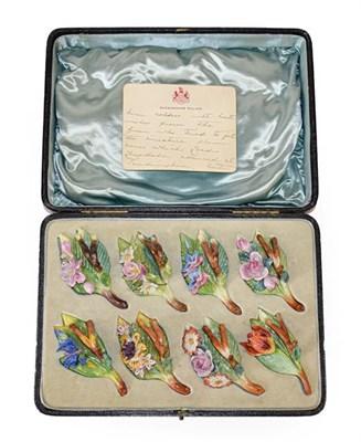 Lot 59 - Of Royal Interest: A Set of Eight Carl Thieme, Potschappel Porcelain Menu Holders, circa 1928, each