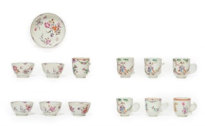 Lot 71 - A Set of Four Chinese Porcelain Coffee Cups, Qianlong, painted in famille rose enamels with figures