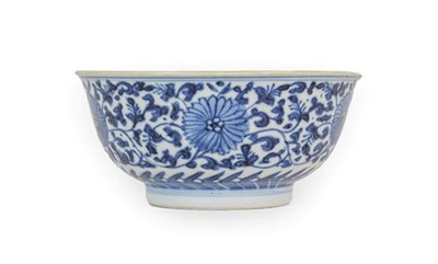 Lot 81 - A Chinese Porcelain Bowl, Chenghua reign mark but not of the period, painted in underglaze blue...