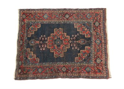 Lot 317 - Afshar Rug South East Iran, circa 1920 The deep indigo field with central stepped medallion...