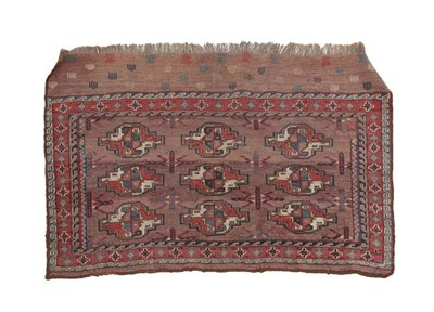 Lot 327 - Yomut Churval East Caspian, circa 1890 The abrashed pale chocolate field with three rows of...