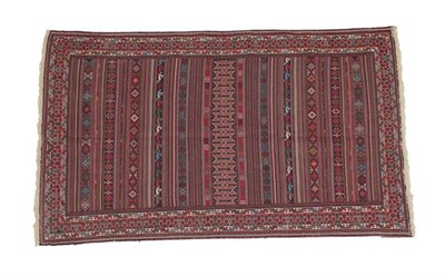 Lot 333 - ''Afshar'' Soumakh  Probably South East Iran, modern The field of wide and narrow polychrome...