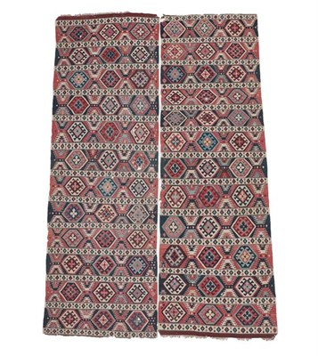 Lot 338 - Shirvan Kilim South East Caucasus, late 19th century Woven in two parts, each with field...