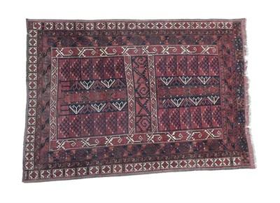 Lot 339 - Ersari Hatchli North Afghanistan, circa 1930 The deep madder field of candelabra motifs enclosed by