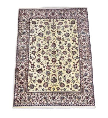 Lot 350 - Khorasan Carpet East Iran, 20th century The pale wheat field with an allover design of large...