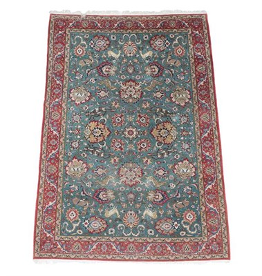 Lot 367 - Fine Ghom Carpet Central Iran, circa 1940 The field with an allover design of large...