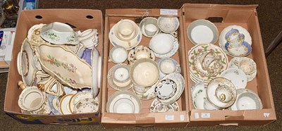 Lot 10 - Three boxes of Rockingham useful wares including a dessert comport, shell and gadroon moulded...