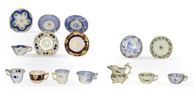Lot 14 - A quantity of Rockingham tea wares, mainly cups and saucers including a breakfast cup and...