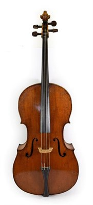Lot 3004 - Cello 29 1/4'' two piece back, ebony fingerboard, depth of rib 4 1/2'', upper bout 13 1/2'', middle