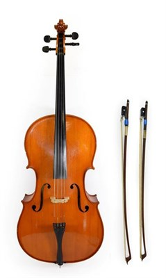 Lot 3005 - Cello 29 3/4'' two piece back, ebony fingerboard and pegs, with makers label 'Andreas Zeller...