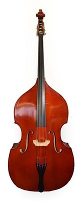 Lot 3007 - Double Bass playing length 42 1/2'', labelled 'Gear 4 Music Full Size Orchestral Bass By Gear 4...