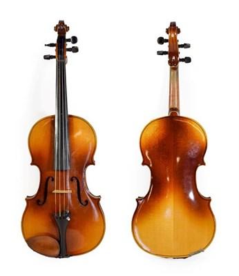 Lot 3008 - Viola 15 1/2'' two piece back labelled 'Oskar Bernhard Heinel 1927'