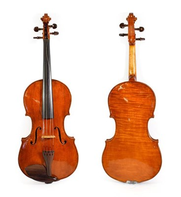 Lot 3009 - Viola 16 1/4'' one piece back, ebony fingerboard, rosewood fittings, with makers label 'John Mather
