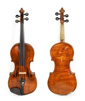 Lot 3018 - Violin 14 1/8'' one piece back labelled ''Alex Smillie, fecit Crosshill, Glasgow 1900 No.132''