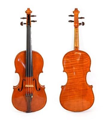 Lot 3020 - Violin 14'' one piece back, ebony fingerboard, with makers label 'John Mather Harrogate 1991 No.23'