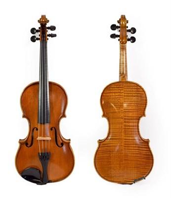 Lot 3022 - Violin 14'' two piece back, ebony fingerboard and pegs, labelled 'Briani Cipriano Vicentino'