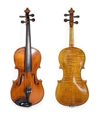 Lot 3024 - Violin 14'' two piece back, ebony fingerboard, no label (cased)