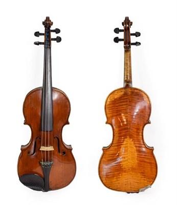 Lot 3025 - Violin 14'' two piece back, ebony fittings, labelled 'Giovanni Pistucci Napoli 1889'