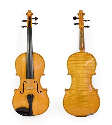 Lot 3027 - Violin 14'' one piece back, ebony fingerboard and tailpiece, with makers label 'K. Adams Bishop...