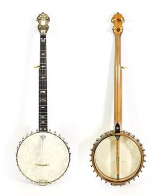Lot 3034 - Clifford Essex & Son Special XX Five String Banjo 11'' head, 22 frets, 28 lugs, dowel stick has...