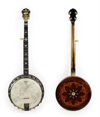 Lot 3035 - Clifford Paragon Five String Banjo 11'' head, 22 frets, 22 lugs, removable concave resonator...