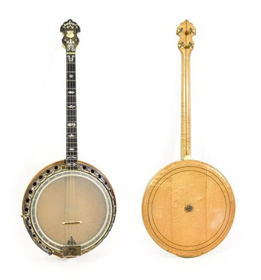 Lot 3036 - Clifford Paragon Tenor Four String Banjo 11'' head, 19 frets, 28 lugs, removable concave resonator