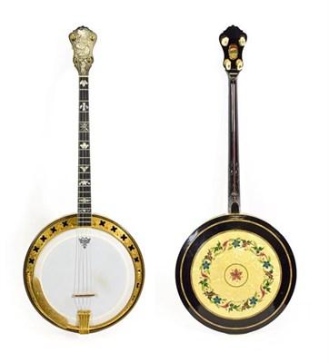 Lot 3037 - Epiphone Recording Artist Tenor Four String Banjo 11'' head, 19 frets, 24 lugs, removable resonator
