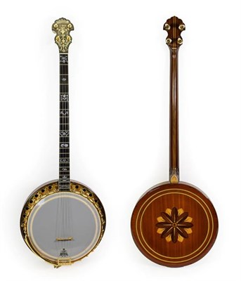 Lot 3039 - Paragon Artist Four String Banjo 11'' head, 22 frets, 28 lugs, removable concave resonator with...