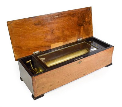Lot 3047 - A Musical Box Playing Twelve Airs, Almost Certainly By B. A. Bremond, circa 1890, with single...