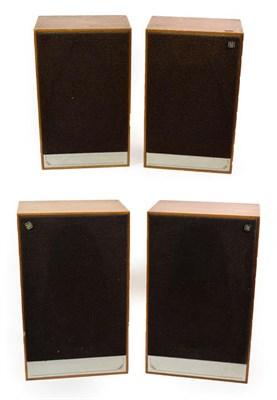 Lot 3048 - Mordaunt-Short Ltd Pageant Series 2 Four Speakers a pair of larger 50W 8ohms 13x21x8 3/4'',...