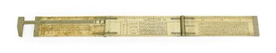 Lot 3074 - J Rabone & Sons (Birmingham) Three Fold Ivory Ironmongers Rule with callipers to one end;...