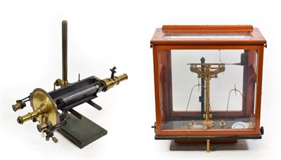 Lot 3075 - Oerling Precision Balance in glass case together with a Francis Schmidt & Haensch Polarimeter...