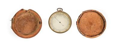 Lot 3077 - Pocket Barometer 2'' diameter, no makers mark (in poor original case)
