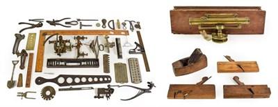 Lot 3079 - Various Instruments including a Surveyors Level marked W Duncan; Rabone spirit level,...