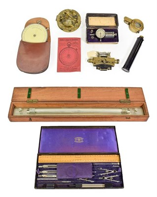 Lot 3080 - Various Instruments including TG Co Sighting Compass and AK & S Clinometer Sight Mk1 both with...